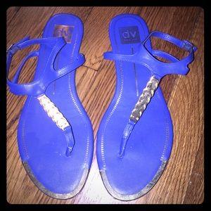 Royal blue sandals